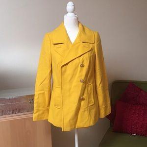 Old navy yellow pea coat 🧥